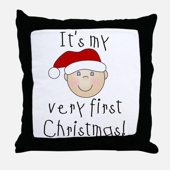 1st Christmas (white) Throw Pillow
