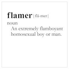 FLAMER / Gay Slang Poster