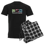 Peace, Love, Leonbergers Men's Dark Pajamas