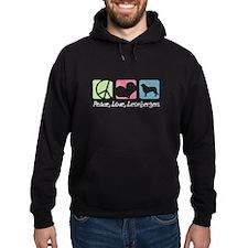 Peace, Love, Leonbergers Hoodie