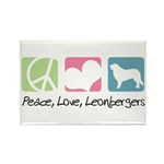 Peace, Love, Leonbergers Rectangle Magnet (100 pac
