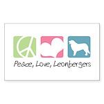 Peace, Love, Leonbergers Sticker (Rectangle 50 pk)