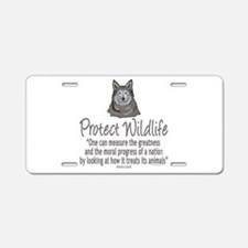 Protect Wolves Aluminum License Plate