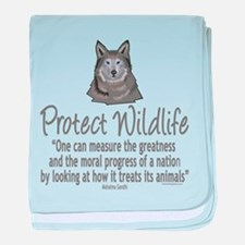 Protect Wolves baby blanket