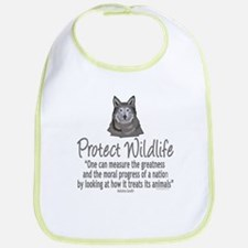 Protect Wolves Bib