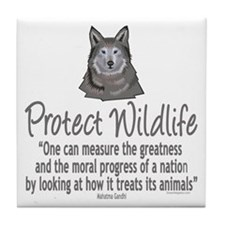 Protect Wolves Tile Coaster
