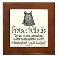 Protect Wolves Framed Tile