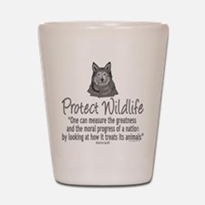 Protect Wolves Shot Glass