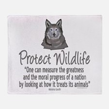 Protect Wolves Throw Blanket