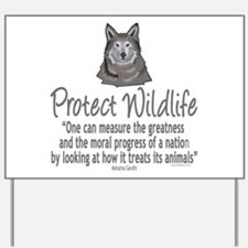 Protect Wolves Yard Sign