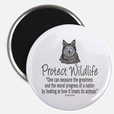 Protect Wolves Magnet