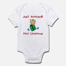 Boy Just Arrived 1st Christmas Infant Bodysuit