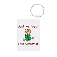 Boy Just Arrived 1st Christmas Keychains