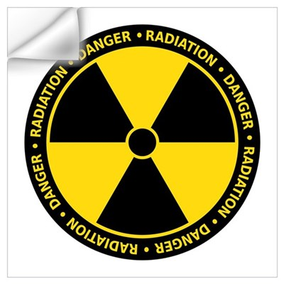 Yellow Radiation Symbol Wall Decal