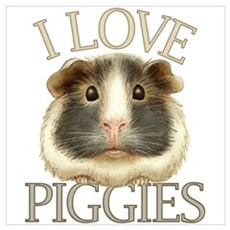 I Love Piggies Poster