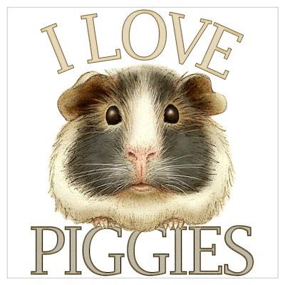I Love Piggies Poster