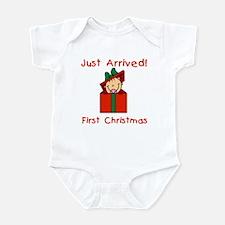 Girl 1st Christmas Infant Bodysuit