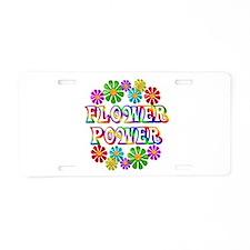 Flower Power Aluminum License Plate