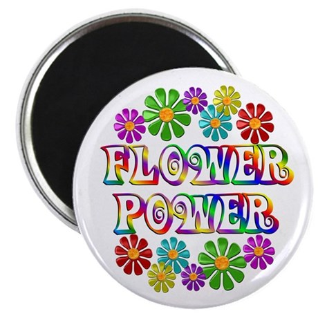 """Flower Power 2.25"""" Magnet (10 pack)"""