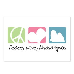 Peace, Love, Lhasa Apsos Postcards (Package of 8)