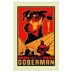 Obey the Doberman! Poster