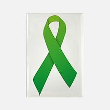 Green Ribbon Rectangle Magnet