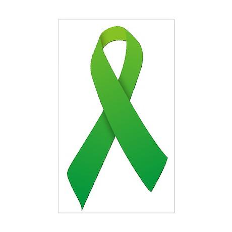 Green Ribbon Sticker (Rectangle)