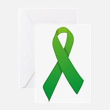 Green Ribbon Greeting Card