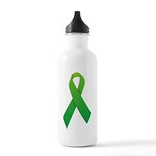 Green Ribbon Water Bottle