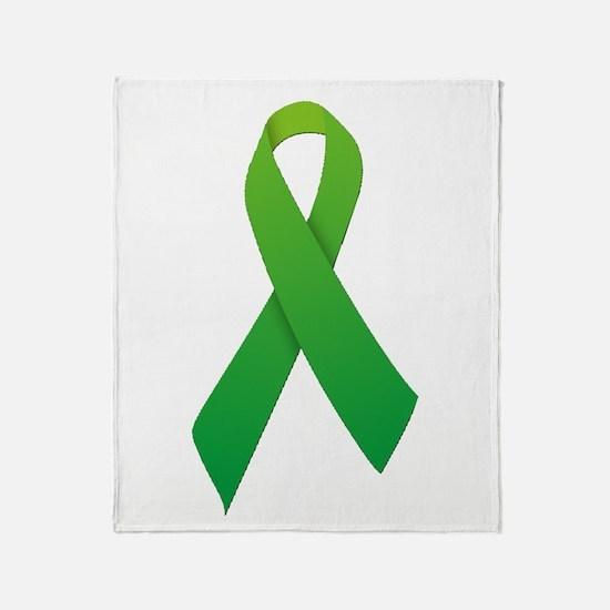 Green Ribbon Throw Blanket