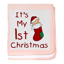 Stocking Baby's 1st Christmas baby blanket