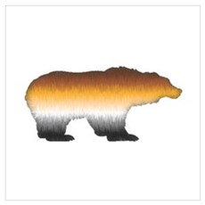 FURRY BEAR PRIDE BEAR CUTOUT Canvas Art