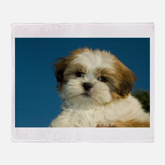 Shih Tzu puppy Throw Blanket