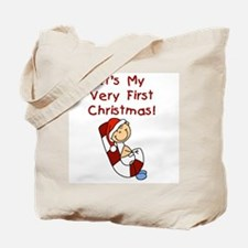 Boy Very First Christmas Tote Bag