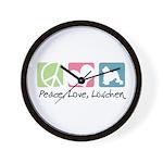 Peace, Love, Löwchen Wall Clock