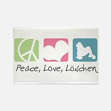 Peace, Love, Löwchen Rectangle Magnet