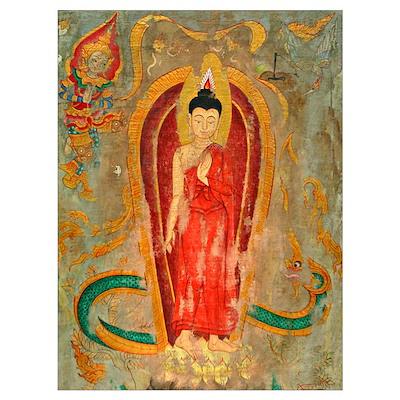 enlightened buddha framed fine art Poster