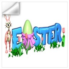 Easter Egg Rabbit Design Wall Decal