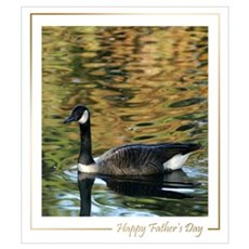 Canadian Goose Fathers Day Framed Print