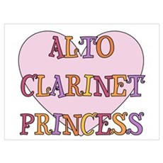 Alto Clarinet Princess Poster