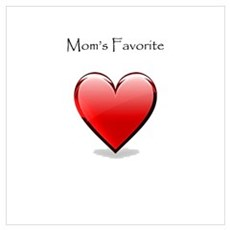 Mom's Favorite Heart Canvas Art