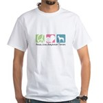 Peace, Love, Manchester Terriers White T-Shirt