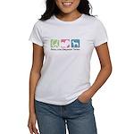 Peace, Love, Manchester Terriers Women's T-Shirt