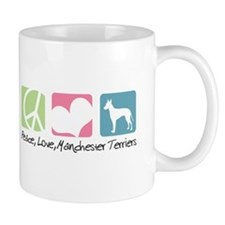 Peace, Love, Manchester Terriers Mug