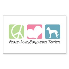 Peace, Love, Manchester Terriers Decal