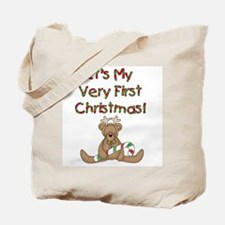 Reindeer Bear 1st Christmas Tote Bag
