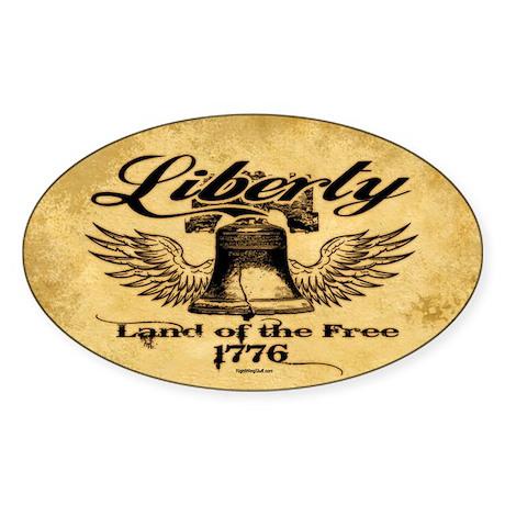 Liberty Bell Sticker (Oval)