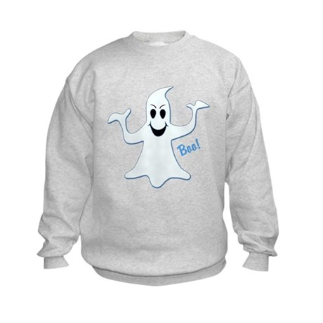 Ghost Glowing Blue, Boo! Kids Sweatshirt