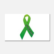 Green Ribbon 'Survivor' Car Magnet 20 x 12