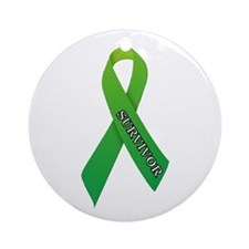Green Ribbon 'Survivor' Ornament (Round)